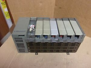 Allen Bradley 1746 a7 7 slot Rack With 1747 l511 And Cards Used