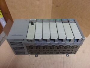 Allen Bradley 1746 a7 7 slot Rack With 1746 p2 Power Supply And 7 Cards Used