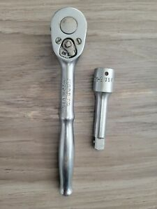 Vintage Snap on Gm 70 m 3 8 Drive Ratchet 3 8 Dr In A 1 4 Frame W Extension