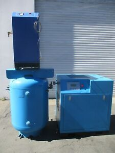 Eaton 7 5hp Rotary Screw Air Compressor With Tank And Dryer Model Ec srw3 7 5