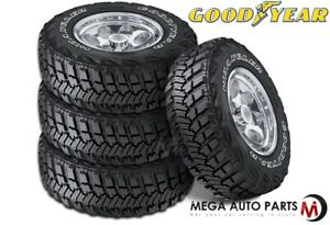 4 Goodyear Wrangler Mt R With Kevlar Lt265 75r16 123q Mud Terrain Off Road Tires