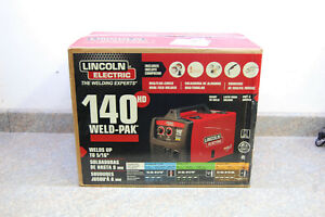 Lincoln Electric 140 Hd Weld pak Mig flux cored Wire Feed Welder Brand New