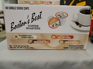 Boston#x27;s Best Single Serve K Cup Flavored Coffee Assortment 80 Count FREE SHIP $29.95
