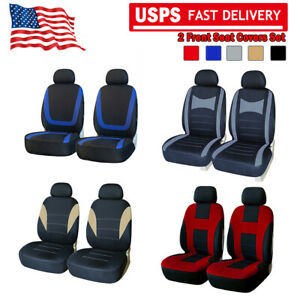 Us 2 Front Car Covers Headrest Seat Protectors For Truck Suv Van Universal Fit