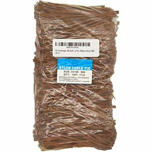 Syd 4 Inch Length 18lb Small Size Self Locking Nylon Cable Zip Ties 1000pieces