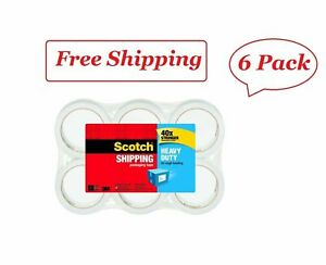 Scotch Heavy Duty Shipping Packaging Tape 1 88 X 60 15 Yd 6 pack