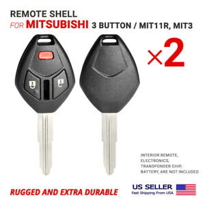 2x Remote Head Key Shell Case For Mitsubishi With Blade Mit11r Mit3 3b clip on