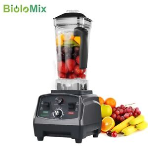 Biolomix 3hp 2200w Heavy Duty Commercial Blender Fruit Juice Mixer 2l Bpa Free