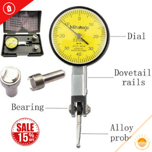 Dial Gauge Test Indicator Precision Metric With Dovetail Rails Mount 0 40 0 0 01