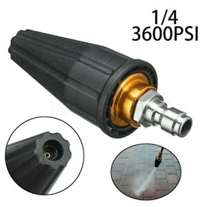 3600psi High pressure Washer Turbo Nozzle Rotating Spray Tip 4 1in 1 6