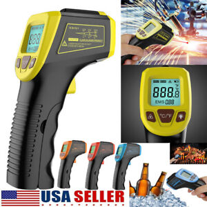 Infrared Thermometer Lcd Laser Temperature Gun Ir Temp Meter Non contact Digital