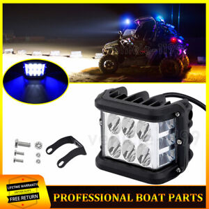Dual Color Work Shooter Light Pods Side Strobe White Blue Truck Atv Flush Mount