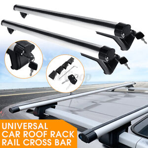 2x 49 Aluminum Car Roof Top Cross Bar Universal Luggage Carrier Rack W Key