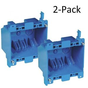 Carlon B225r upc Lamson Home Products Number 2 Gang Old Work Box 2 Pack