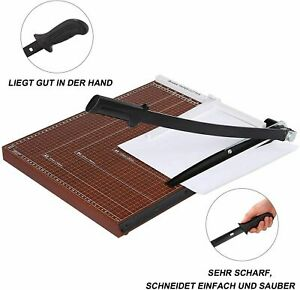 New Heavy Duty Guillotine Paper Cutter 17 Commercial Metal base A3 Trimmer 5