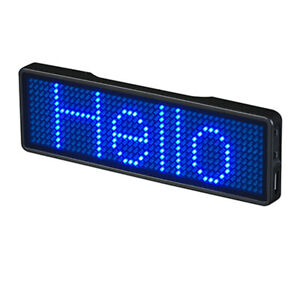 Rechargeable Bluetooth Digital Led Badge Scrolling Message Mini For Conference