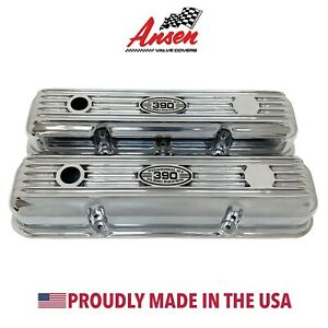 Ansen New Ford Fe 390 Short Valve Covers Polish Powered By 390 Cubic Inches