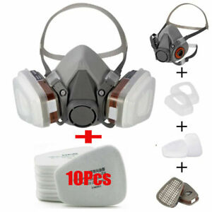 1 2x 17 In1 Half Face Gas Mask Facepiece Spray Painting Respirator Safety F 6200