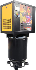 1 Phase 220v 5 5hp Rotary Screw Air Compressor 175psi With 60 Gallon Asme Tank