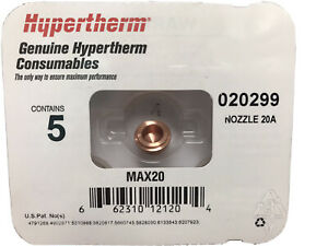 Hypertherm 020299 5 Pack Nozzle 20a Max20