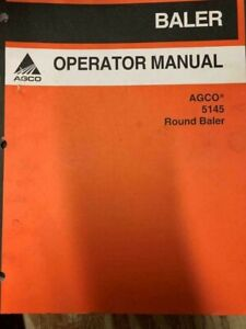 Agco 5145 Round Baler Owners Manual