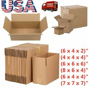 100pack Shipping Boxes Many Sizes Available Packing Mailing Moving Storage