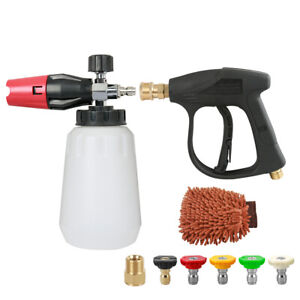 Deluxe Foam Cannon Spray Gun 3000psi For High Pressure Washer For Car Wash M22