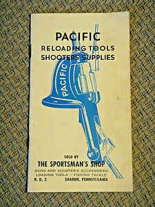 1953 Vintage Pacific Gun Sight Co. Pacific Reloading Tool Shooting Book Brochure $8.99