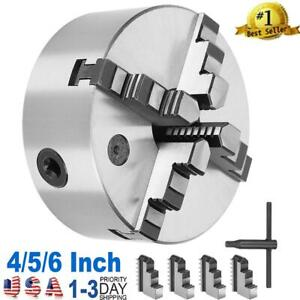 4 5 6 Inch 4 jaw Chuck self Centering Jaw Lathe Chuck Cast Iron 0 02mm Accuracy