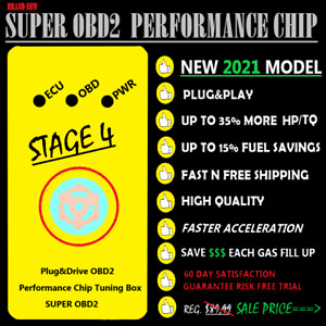 Super Obd2 Performance Chip Gas fuel Saver All Honda Vehicles 1996 2021