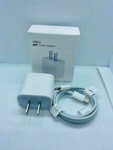 For iPhone 12 11 12 Pro Max XR iPad Fast Charger 20W USB C Power Adapter Cable $14.99
