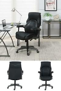 Managers Chair Ergonomic Flip up Arms Height Adjustment Handle Lumbar Support