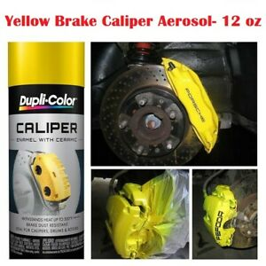 Fast Drying Yellow Coating High Temp Caliper Brake Rotors Drums Paint Spray 500f
