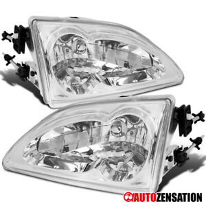 For 1994 1998 Ford Mustang Svt Gt Clear Headlights Lamps Replacement 95 96 97