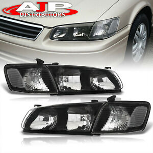 Black Clear Driving Halogen Head Lights Lamps Lh Rh For 2000 2001 Toyota Camry