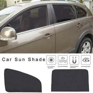4pcs Magnetic Car Sunshade Uv Protector Front Rear Side Window Curtain Shade Use