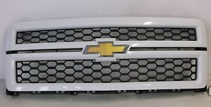 Oem 2014 2015 Chevrolet Silverado 1500 Front Grille Grill Summit White