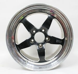 Weld Racing Rt S S71 17 Forged Aluminum Black Anodized 17x10 Wheel Rim Used