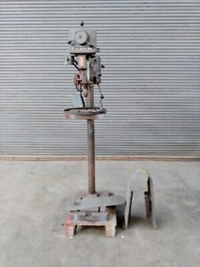 Clausing 15 Drill Press Floor Stand Model 1689 selling For Parts Not Running