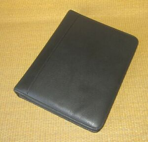 Classic Franklin Covey quest Black Leather 1 5 Rings Zip Planner binder