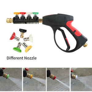 High Pressure Washer Gun 3000 Psi With 5 color Nozzles For Pressure Water Jet