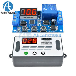 Digital Dc 12v Led Display Delay Time Timer Relay Module Control Switch W Case