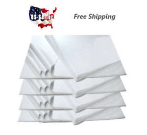 480 Pack 20 x30 White Tissue Wrapping Paper Packing Wrapping Cushioning Void F