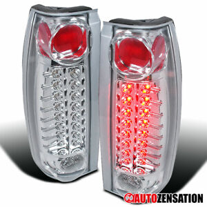 For 88 98 Chevy Gmc C K 1500 2500 Silverado Clear Led Tail Brake Signal Lights
