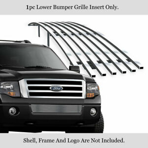 Fits 2007 2014 Ford Expedition Lower Bumper Stainless Chrome Billet Grille