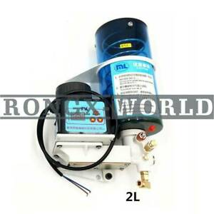 Electric Lubrication Grease Oil Pump 2l 24v Automatic For Punching Press Machine