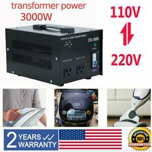 3000w Step Up down Power Voltage Power Converter Transformer 220v To from 110v