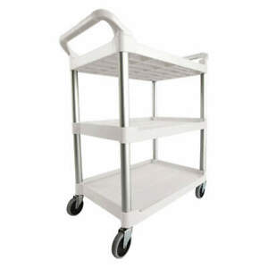 Rubbermaid Commercial Products Fg342488owht Utility Cart 200 Lb Load Cap plast
