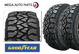 2 Goodyear Fierce Attitude M t Lt225 75r16 115p 10e All terrain Truck Mud Tires