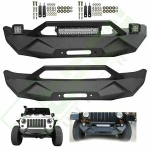 Aggressive Complete Front Bumper Guard For Jeep Wrangler Jk 2007 2018 Steel